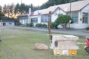 廃校跡の社屋