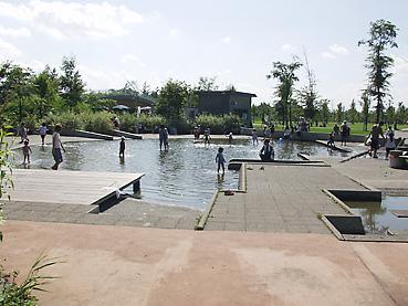 十勝エコロジーパークの「水と霧の遊び場」1