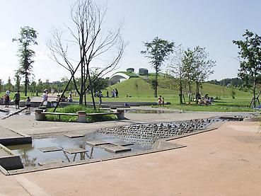 十勝エコロジーパークの「水と霧の遊び場」2