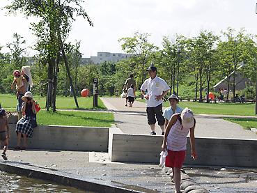 十勝エコロジーパークの「水と霧の遊び場」6