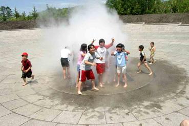 十勝エコロジーパークの「水と霧の遊び場」