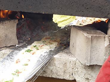 石窯焼きピザに挑戦