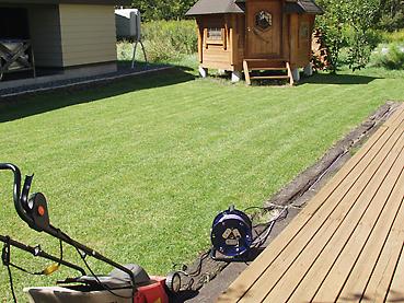 芝刈り終了