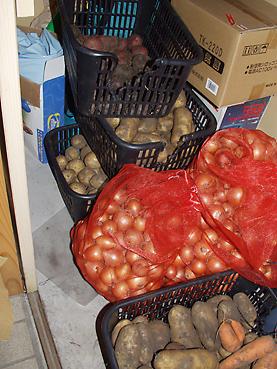 ジャガイモを保存
