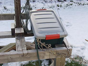 イルミネーションの配線ボックス