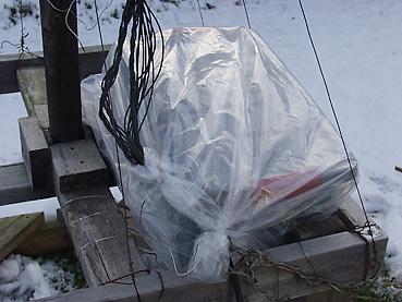 イルミネーションの配線ボックスを防水