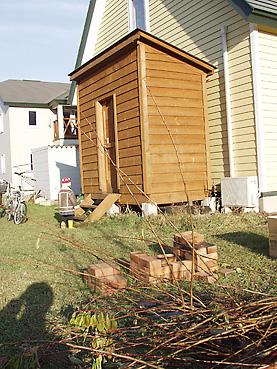 大容量の木製物置