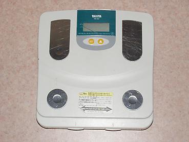 体脂肪計付きの体重計