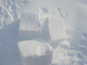 雪のブロック