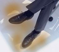 一日中はいている革靴の臭い