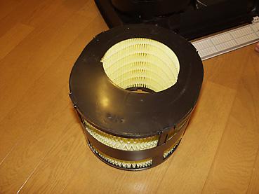ナショナル気化式加湿器 FE-14KFS/B-C フィルターの入れ方