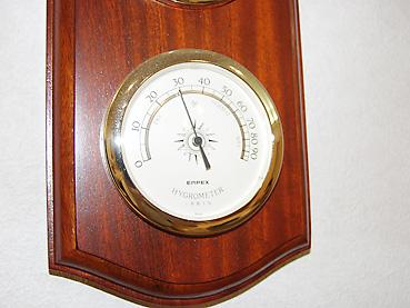 湿度計 乾燥時