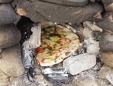 石窯焼きピザ完成!