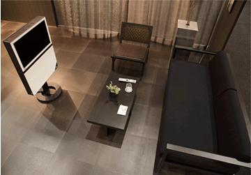 カッシーナ・イクスシーの家具とEIZOの液晶テレビで、洗練された上質な住空間を提案