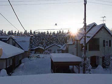 大雪とカーポート