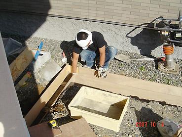 オシャレなガーデンウォール製作 工程1~寒冷地対応の基礎を作る~基礎枠