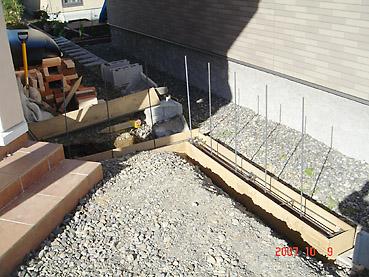 オシャレなガーデンウォール製作 工程1~寒冷地対応の基礎を作る~基礎鉄筋