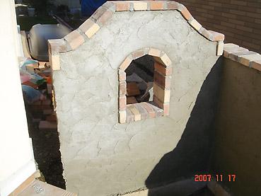 オシャレなガーデンウォール製作 工程4~壁のモルタル塗り