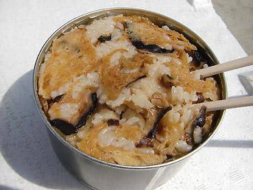 自衛隊の缶詰「しいたけご飯」は、まずまずのお味