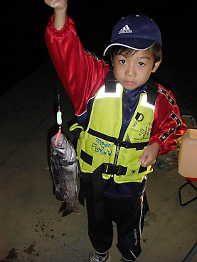 十勝・広尾の十勝港での、ソイの夜釣り